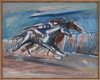 carrera de caballos by raúl anguiano