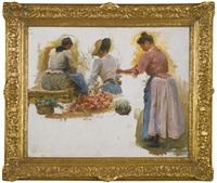 trois femmes au marché by julien gustave gagliardini