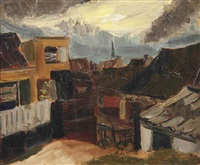 a view of zandvoort by henri le fauconnier