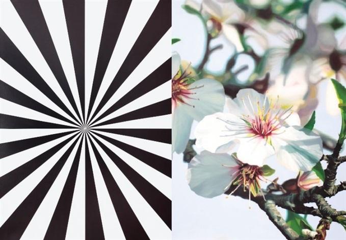 extacy almond blossom diptych by mustafa hulusi
