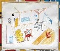 conversation in the studio, from: the moving focus series by david hockney