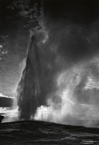 old faithful geyser #2, yellowstone national park, wyoming by ansel adams