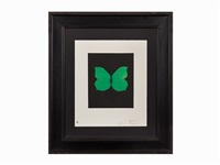 butterfly etching (tribulation) by damien hirst