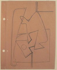 still life abstraction (double-sided) by arshile gorky