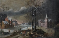 paysage d'hiver by jan abrahamsz beerstraten