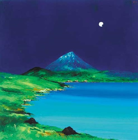 new moon errigal county donegal by david gordon hughes