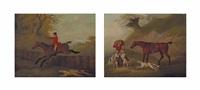 la poursuite du renard et la curée (2 works) by john nost sartorius