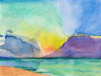 sunset, port franks by greg curnoe