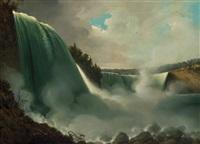 niagara falls from american side by john vanderlyn