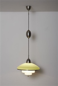 large adjustable megaphos ceiling light by c.f. otto müller