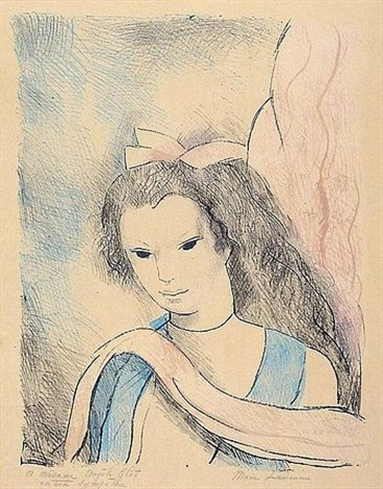 portrait de femme by marie laurencin