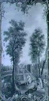 scene galante dans un parc by perelle