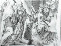 the three marys at the tomb by jan van lintelo