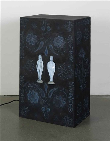 early american box in 2 parts by tony oursler
