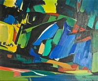 landscape composition by h. basil honour