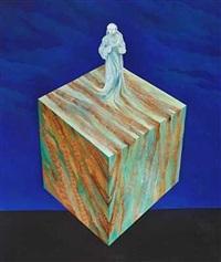 surrealistisk opstilling med kvinde by erik lagoni jacobsen