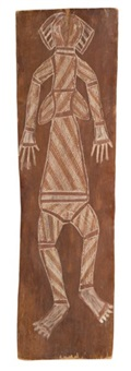 male spirit figure (+ female spirit figure; 2 works) by jack madagarlgarl