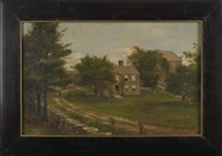 landscape with farmhouse by george frank higgins