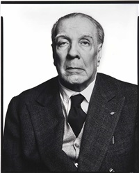 jorge luis borges, writer, buenos aires, argentina by richard avedon