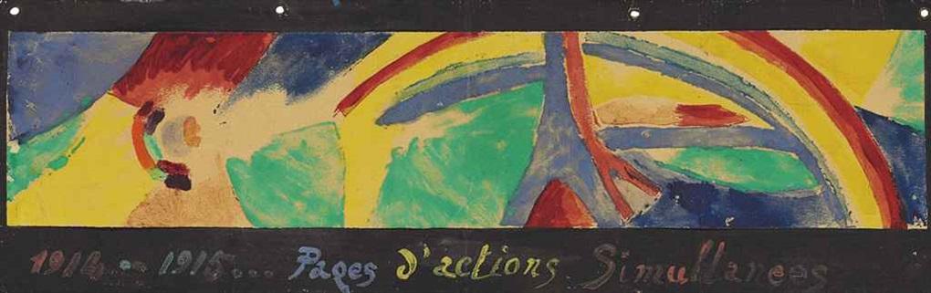 pages d'actions simultanées (tour eiffel et arc-en-ciel) by robert delaunay