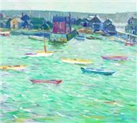 harbor and town by charles salis kaelin
