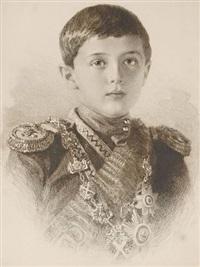 portrait du tsarévitch alexis nicolaïévitch de russie (1904-1918) by mikhail rundaltsov
