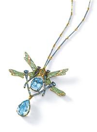 quatre libellules pendant necklace by rené lalique