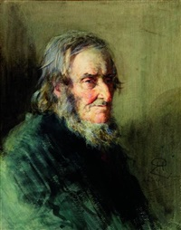 portrait d'homme barbu by robert herdman