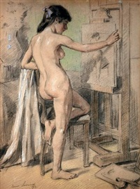 schildersmodel by louis soonius