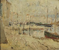 the harbour of st. tropez by adrien jean le mayeur de merprés