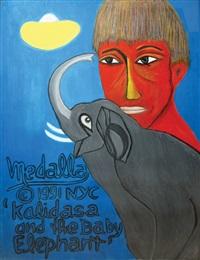 kalidasa and the baby elephant by david medalla