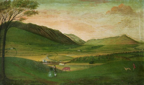 st john in the vale cumberland with threlkeld old bridge view by mathias read