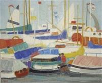 bateaux sur la grève, istanbul by ginette rapp