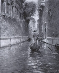 a canal in venice by tullio campriani