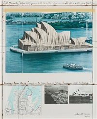 wrapped opera house (project for the opera house in sydney, bennelong, australia) by christo and jeanne-claude