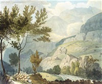 crib goch from llanberis, carnarvonshire by william day
