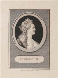 catherine ii (1729-1796) by augustin de saint-aubin