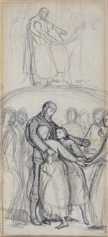 a study for the ransom (sometimes called the hostages) by sir john everett millais