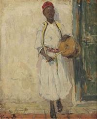 tambourine player by adrien jean le mayeur de merprés