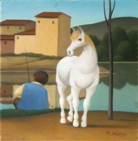 cavallo e pescatore by roberto masi