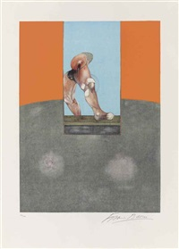 triptych 1987 (central panel) by francis bacon