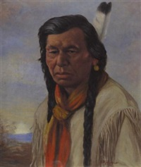 chief achim, cree indian by henry metzger