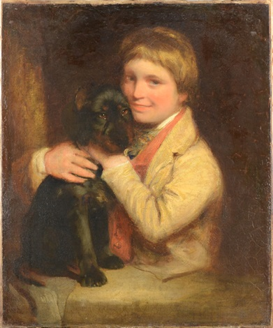 a young boy and his dog by john opie