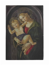 the madonna and child in a niche by sandro botticelli