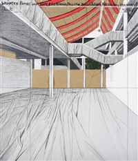 wrapped floors and covered windows, project for museum würth, künzelsau, germany by christo and jeanne-claude