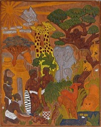 african people and wildlife by paul gauguin