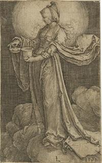 maria magdalena auf den wolken (+ 2 others; 3 works) by lucas van leyden