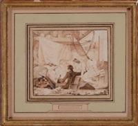 le place est prise and untitled (2 works) by augustin de saint-aubin