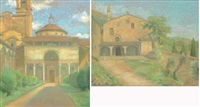 la chapelle de pazzi (+ une vue de la campagne toscane; 2 works) by amélie sauger