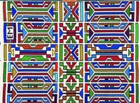 ndebele bead composition by esther mahlangu